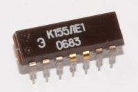 К155ЛЕ1  SN7402N . Микросхема представляет собой четыре...