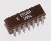 К155ЛН1  Микросхема представляет собой шесть логических...