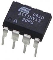 ATTINY13-20PU  32x8 register, 8-bit timer/counter with...