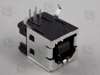 292304-1  Розетка угловая на плату USB, выводной монтаж...