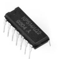 КР514ИД2  Микросхемы представляют собой дешифратор для...