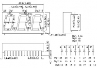 BC56-11GWA 7-сегментный трехразрядный светодиодный...