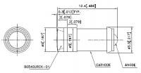 BLFA054SURCK-6V-P Светодиод 5мм с фланцевым цоколем и встроенным...