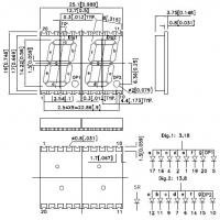 KCDA56-104 7-сегментный светодиодный индикатор с высотой...