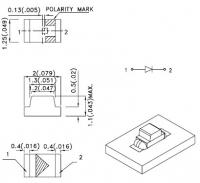 KP-2012SYC Светодиод для поверхностного монтажа 2.0х1.25мм...