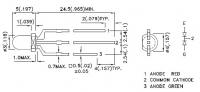 L-115WEGW Двухцветный биполярный круглый светодиод 3мм...