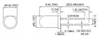 L-56BSRD-B Круглый мигающий светодиод 5мм     Содержит...
