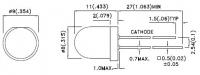 L-793YD 8мм светодиод     IC совместимый   Широкий угол...