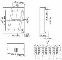 SA40-18SRWA 7-сегментный цифровой индикатор с высотой...