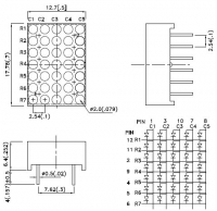 TA07-11YWA Светодиодная матрица 5х7 точек высотой 17.78 мм...