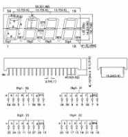 CC56-12YWA 7-сегментный четырехразрядный светодиодный...
