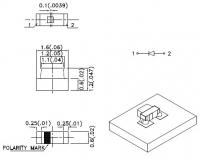KPA-1606SYCK Светодиод для поверхностного монтажа 1.6х0.6мм...