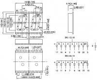 KCDA04-101 7-сегментный светодиодный индикатор с высотой...