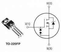 STMicroelectronics STP6NK90ZFP