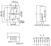SC10-21EWA 7-сегментный цифровой индикатор с высотой...