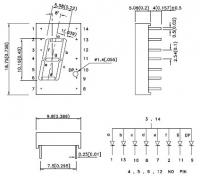 SA04-12YWA 7-сегментный цифровой индикатор с высотой...