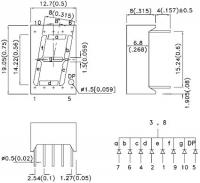 SC56-11YWA 7-сегментный цифровой индикатор с высотой...