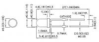 L-7104SYC-H Сверхяркий круглый светодиод 3мм     Малое...