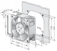 614NHH Осевой вентилятор постоянного тока серии 600n...