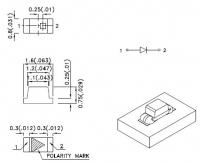 KPT-1608QBC-D Светодиод для поверхностного монтажа 1.6х0.8мм...